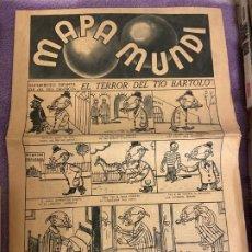 Tebeos: MAPA MUNDI EL TERROR DEL TIO BARTOLO. Lote 194648025