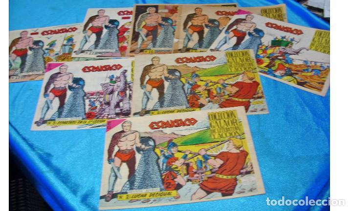 ESPARTACO - LOTE DE 8 TEBEOS ORIGINALES GALAOR 1966 - VER Y LEER DESCRIPCION (Tebeos y Comics - Tebeos Colecciones y Lotes Avanzados)