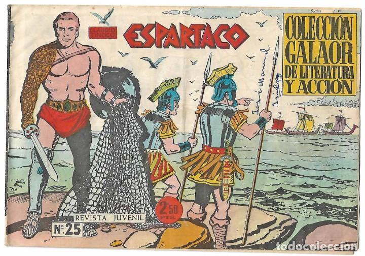 Tebeos: ESPARTACO - LOTE DE 8 TEBEOS ORIGINALES GALAOR 1966 - VER Y LEER DESCRIPCION - Foto 3 - 194965427