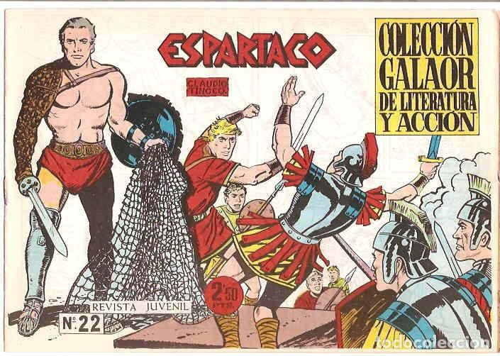 Tebeos: ESPARTACO - LOTE DE 8 TEBEOS ORIGINALES GALAOR 1966 - VER Y LEER DESCRIPCION - Foto 4 - 194965427