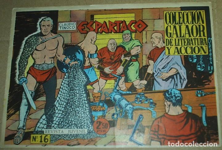 Tebeos: ESPARTACO - LOTE DE 8 TEBEOS ORIGINALES GALAOR 1966 - VER Y LEER DESCRIPCION - Foto 5 - 194965427