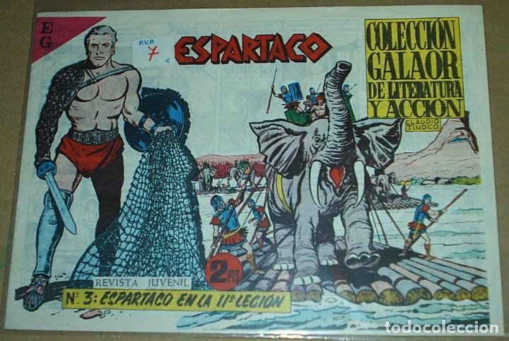 Tebeos: ESPARTACO - LOTE DE 8 TEBEOS ORIGINALES GALAOR 1966 - VER Y LEER DESCRIPCION - Foto 6 - 194965427