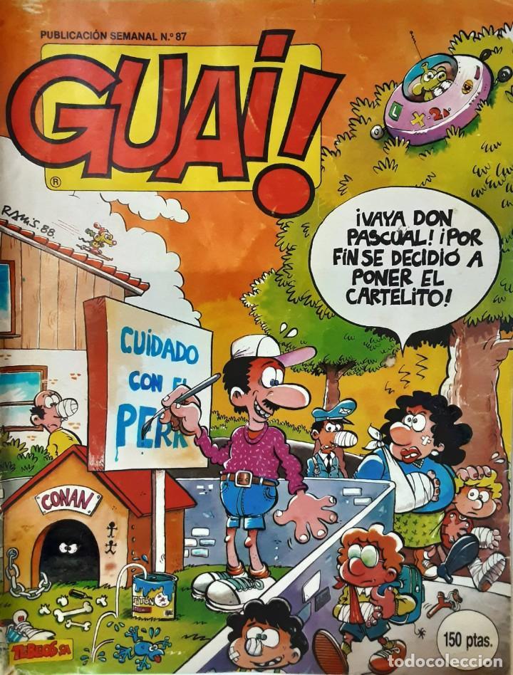 GUAI Nº 87 - TEBEOS SA - CON IBAÑEZ, RAF, UDERZO, SEGURA, SCHULZ, ETC (Tebeos y Comics - Tebeos Colecciones y Lotes Avanzados)