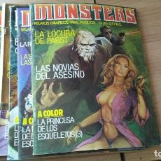 Tebeos: COMIC MONSTERS RELATOS GRAFICOS PARA ADULTOS LOTE DE 8 NÚMEROS ED. ZINCO, 1982. Lote 195411025