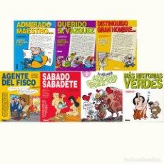 Tebeos: GENIOS DEL HUMOR. 7 ALBUMS. COMPLETO. MANUEL VAZQUEZ.. Lote 195546840