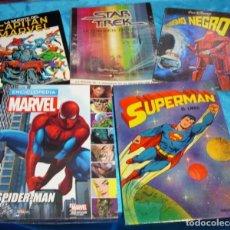 Tebeos: GRAN LOTE DE 5 TOMOS-STAR TREX,SUPERMAN,SPIDERMAN,MARVEL ETC - LEER Y VER FOTOS. Lote 195718443