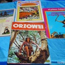 Tebeos: LOTE 4 TAPA DURA-GULLIVER 7-CORSARIO NEGRO-SANDOKAN-ORZOWEI- LEER Y VER FOTOS. Lote 195787218