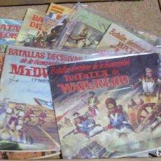Tebeos: BATALLAS DECISIVAS DE LA HUMANIDAD, ORIGINAL-COMPLETA,GALAOR 1965, 12 TEBEOS MUY B.-LEER Y VER FOTOS. Lote 195964068