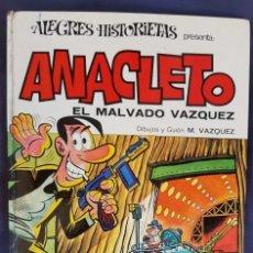 Tebeos: ALEGRES HISTORIETAS Nº 9 - ANACLETO -EL MALVADO VAZQUEZ - 1ª EDICIÓN BRUGUERA (1971) - VER FOTOS. Lote 197119466