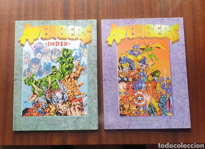 THE AVENGERS LOS VENGADORES INDEX VOL. 1 Y 2 - RAFA S. FERNANDEZ, 1997-1998 (Tebeos y Comics - Tebeos Pequeños Lotes de Conjunto)