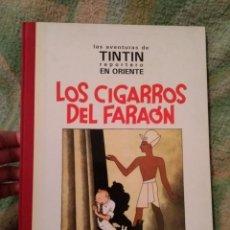 Tebeos: TINTIN REPORTERO EN ORIENTE LOS CIGARROS DEL FARAÓN FACSÍMIL 1992 JUVENTUD LOMO TELA. Lote 199074861