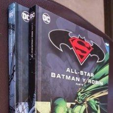 Tebeos: BATMAN SUPERMAN ALL STAR, BATMAN Y ROBIN (TOMOS 1 Y 3) COMPLETA EN 2 TOMOS-ECC/SALVAT VER DESCRIPCIÓ. Lote 200058111