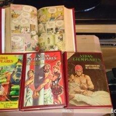 Livros de Banda Desenhada: COLECCIÓN 9 TOMOS ENCUADERNADOS CON NÚMEROS ORIGINALES DE VIDAS EJEMPLARES 1954-1968. Lote 200255221