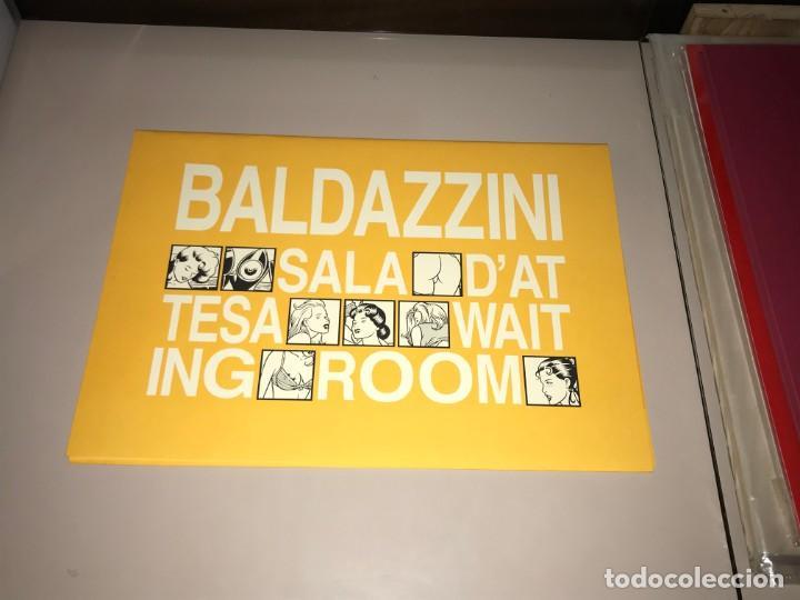 ROBERTO BALDAZZINI WAITING ROOM SALA D'ATTESA PORTFOLIO NUMERATO (Tebeos y Comics - Tebeos Colecciones y Lotes Avanzados)