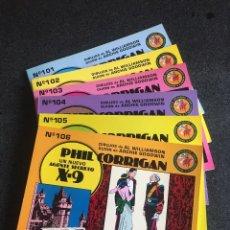 Tebeos: PHIL CORRIGAN UN NUEVO AGENTE SECRETO X-9 COMPLETA 6 TOMOS - EDICIONES ESEUVE - ART COMICS - 1990. Lote 200359528