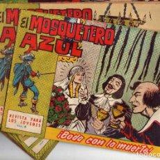 Tebeos: EL MOSQUETERO AZUL ORIGINALES LOTE ( 13 ). Lote 204474503