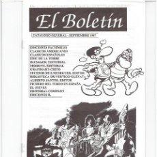 Tebeos: * EL BOLETIN * CATALOGO GENERAL * CARLOS GONZALEZ * LOTE 5 Nº IMPECABLES *. Lote 205373952