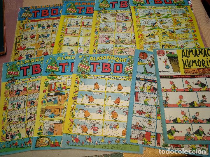 TBO LOTE DE 9 EJEMPLARES ALMANAQUES Y EXTRAS AÑOS 1951-9 -ORIGINALES EPOCA (Tebeos y Comics - Tebeos Pequeños Lotes de Conjunto)