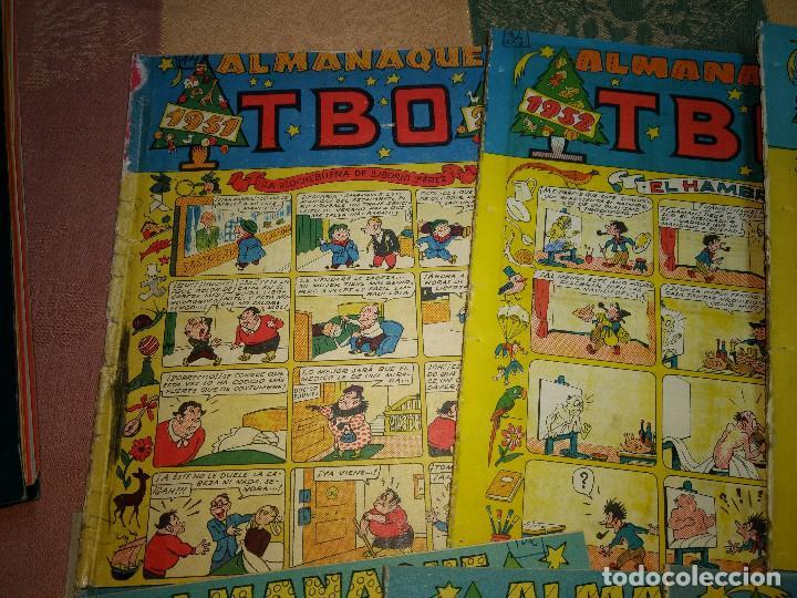 Tebeos: TBO LOTE DE 9 EJEMPLARES ALMANAQUES Y EXTRAS AÑOS 1951-9 -ORIGINALES EPOCA - Foto 2 - 205380330