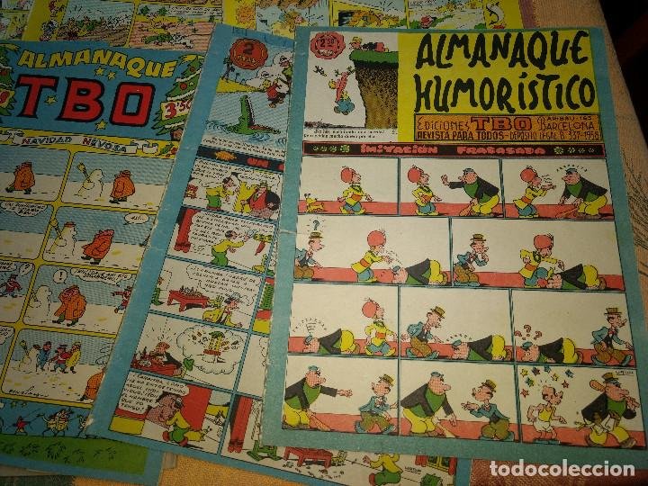 Tebeos: TBO LOTE DE 9 EJEMPLARES ALMANAQUES Y EXTRAS AÑOS 1951-9 -ORIGINALES EPOCA - Foto 5 - 205380330