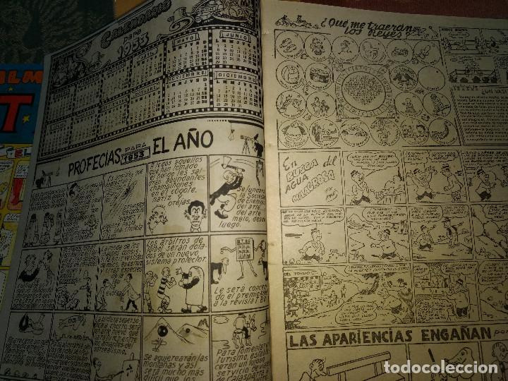 Tebeos: TBO LOTE DE 9 EJEMPLARES ALMANAQUES Y EXTRAS AÑOS 1951-9 -ORIGINALES EPOCA - Foto 7 - 205380330