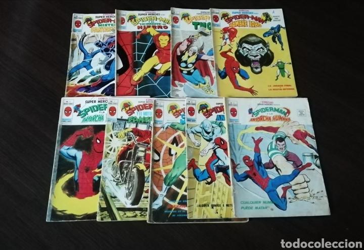 LOTE DE 9 NÚMEROS DE MUNDI COMICS ESPECIAL SUPER HÉROES SPIDERMAN. (Tebeos y Comics - Tebeos Pequeños Lotes de Conjunto)