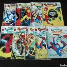 Tebeos: LOTE DE 9 NÚMEROS DE MUNDI COMICS ESPECIAL SUPER HÉROES SPIDERMAN.. Lote 205682553