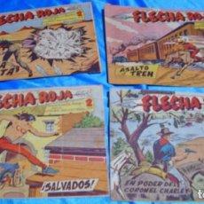 Tebeos: FLECHA ROJA ORIGINALES 29-30-33-35- BUEN ESTADO-LEER. Lote 206118356