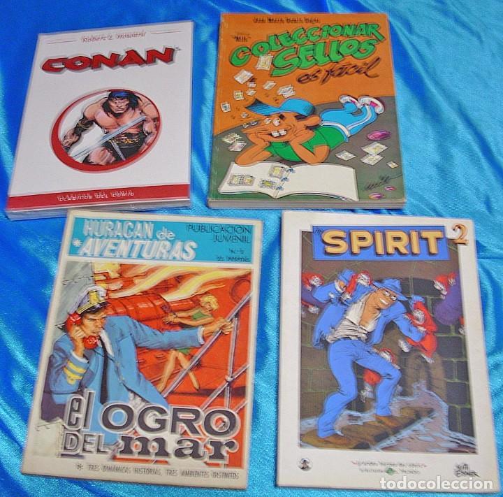 TACOS LOTE DE 4-CONAN-SPIRIT-COLECCIONAR SELLOS-HURACAN AVENTURAS ESTADO-IMPORTANTE LEER TODO (Tebeos y Comics - Tebeos Pequeños Lotes de Conjunto)