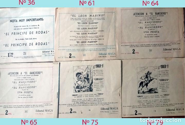 Tebeos: LOTE DE 6 EJEMPLARES DEL PRINCIPE DE RODAS Nº. 36, 61, 64, 65, 75 y 79 EDITORIAL MAGA 1960.ORIGINAL - Foto 2 - 206294270