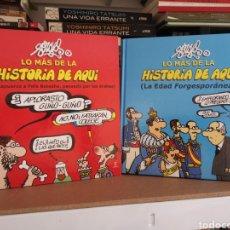 Tebeos: LO MÁS DE LA HISTORIA DE AQUÍ - FORGES - COMPLETA 2 TOMOS. Lote 206567012