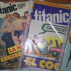 Livros de Banda Desenhada: * TITANIC * REVISTA DE HUMOR * EDICIONES EL JUEVES 1987 * LOTE DE 6 Nº IMPECABLES *. Lote 207244150