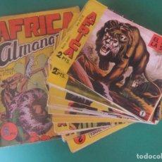 Tebeos: AFRICA MAGA COLECCION COMPLETA ORIGINAL CON EL ALMANAQUE PARA 1965 MAGA. Lote 209324473