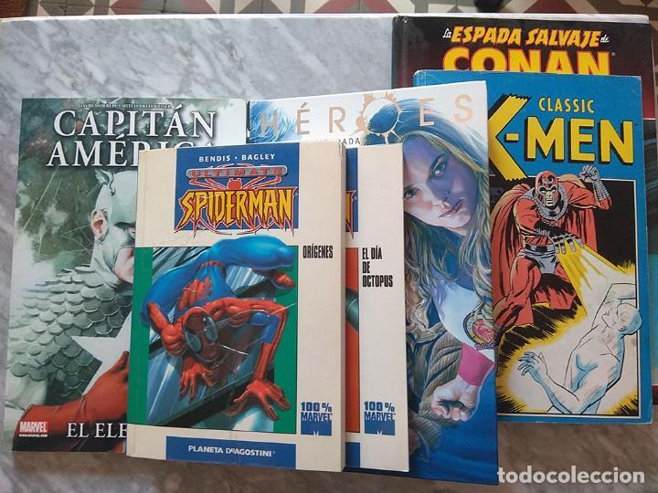 LOTE SUPERHÉROES CLASSIC X-MEN CAPITÁN AMÉRICA CONAN HÉROES PRIMERA TEMPORADA ULTIMATE SPIDERMAN (Tebeos y Comics - Tebeos Pequeños Lotes de Conjunto)