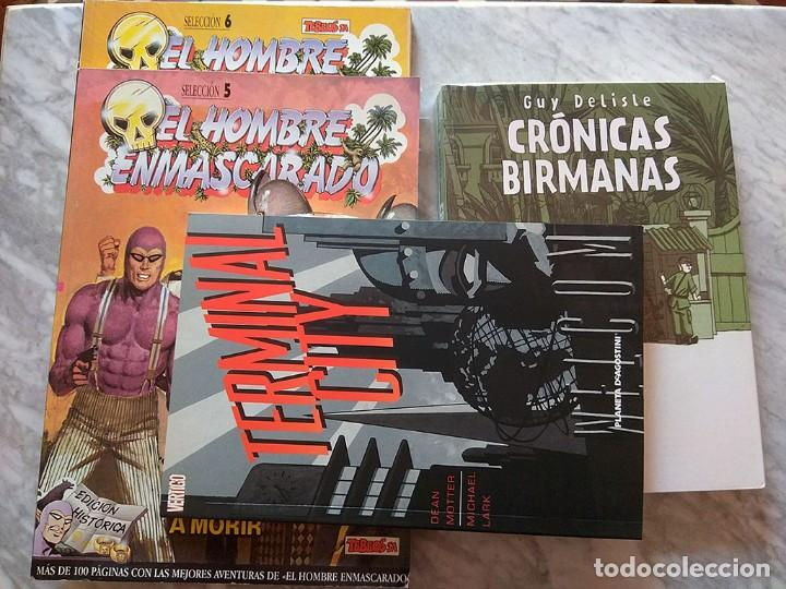 LOTE 4 CÓMICS HOMBRE ENMASCARADO (2 TOMOS) GUY DELISLE CRÓNICAS BIRMANAS TERMINAL CITY (VERTIGO) (Tebeos y Comics - Tebeos Pequeños Lotes de Conjunto)
