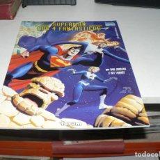 Tebeos: SUPERMAN / LOS 4 FANTASTICOS. NUMERO UNICO. PLANETA 1999 TAMAÑO GRANDE. Lote 213415681