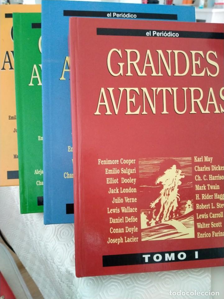 COLECCION GRANDES AVENTURAS. LOTE DE LOS 4 TOMOS: 1, 2, 3 Y 4. EL PERIODICO. 95 HISTORIAS EN COLOR. (Tebeos y Comics - Tebeos Pequeños Lotes de Conjunto)