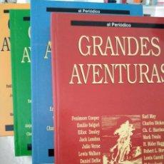 Tebeos: COLECCION GRANDES AVENTURAS. LOTE DE LOS 4 TOMOS: 1, 2, 3 Y 4. EL PERIODICO. 95 HISTORIAS EN COLOR.. Lote 213532655