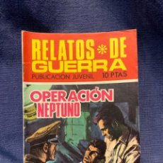 Tebeos: COMIC RELATOS DE GUERRA ED. TORAY 1969 OPERACION NEPTUNO RG. 190 21X15. Lote 213558197