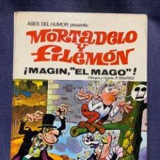Tebeos: MORTADELO Y FILEMON MAGIN EL MAGO F IBAÑEZ 1971 ED. BRUGUERA COLECC. ASES DE HUMOR 29X22. Lote 213565276