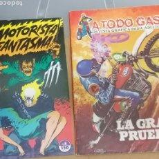 Tebeos: LOTE 2 COMICS MOTOS. A TODO GAS, MOTORISTA FANTASMA. Lote 214189375
