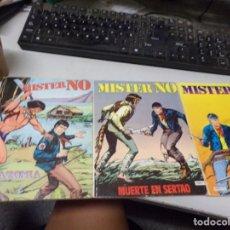 Tebeos: LOTE 3 MISTER NO - AMAZONIA - MUERTE EN SERTAO - EL HOMBRE DE LA MASCARA ROJA. Lote 216675322