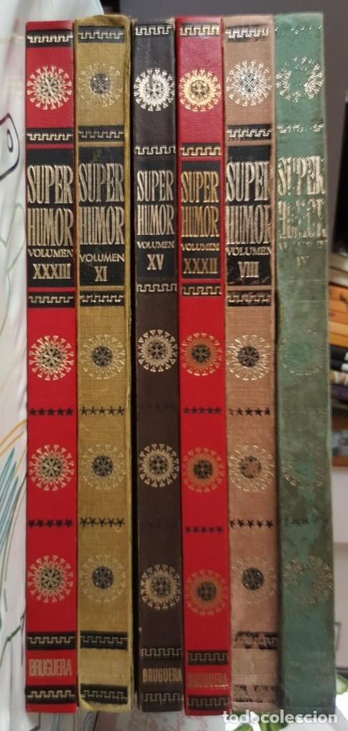 LOTE DE 6 TOMOS DE SUPER HUMOR - NºS. ROMANOS EN LOMO - BRUGUERA (1975-1985) VER FOTOS Y DESCRIPCIÓN (Tebeos y Comics - Tebeos Colecciones y Lotes Avanzados)