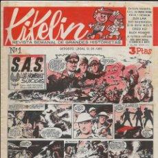 Tebeos: KIKELIN AÑO 1960 COLECCIÓN COMPLETA SON 14. TEBEOS ORIGINALES MUY NUEVOS VER FOTOS DE LA COLECCIÓN. Lote 218384668
