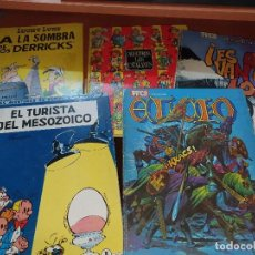 Tebeos: LUCKY LUKE, NOSOTROS LOS CATALANES, EL CID Y VAN COMO LOCOS DE TRINCA Y ESPIRU Y FANTASIO, PASTA DUR. Lote 218533328