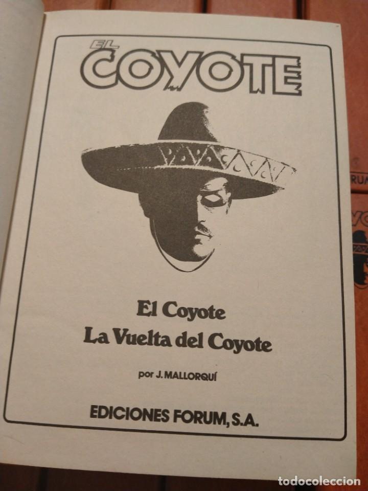Tebeos: EL COYOTE. UNA CREACION LITERARIA DE JOSE MALLORQUÍ FIGUEROLA. EDICIONES FORUM. 16 TOMOS. 1983. TAPA - Foto 2 - 218855493