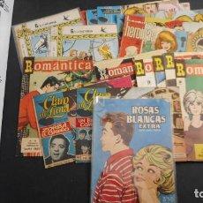 Livros de Banda Desenhada: LOTE DE 22 TEBEOS FEMENINOS DE ÉPOCA. Lote 219764330
