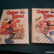 Tebeos: SUPER LOPEZ - LOTE DOS TOMOS NºS 2 Y 3 + POSTER - GRAN FESTIVAL DEL COMIC - EDICONES BRUCH - JAN. Lote 220554086
