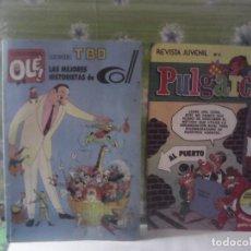 Tebeos: LOTE 2 COMICS AÑOS 80 TBO PULGARCITO. Lote 221899471
