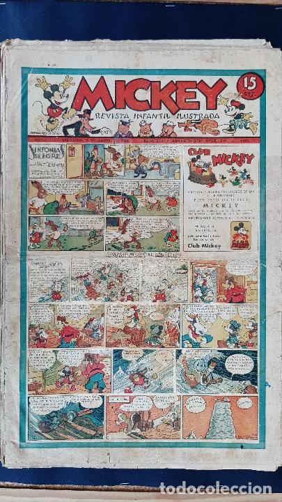 Tebeos: LOTE DE MICKEY COLECCION MOLINO 59 EJEMPLARES ANTIGUOS 1935 1936 ORIGINALES - Foto 2 - 225020363